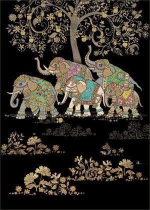 five-elephants-jewels-bug-art-cards
