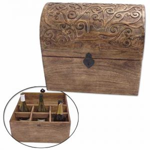 mango-wood-domed-wine-holder-chest