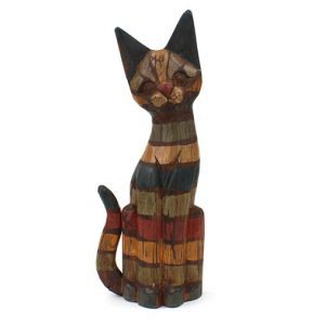 rainbow-rustic-wooden-sitting-pussy-cat