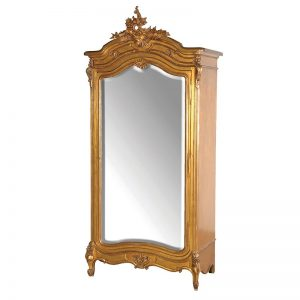 Gold Mirrored Versailles Armoire