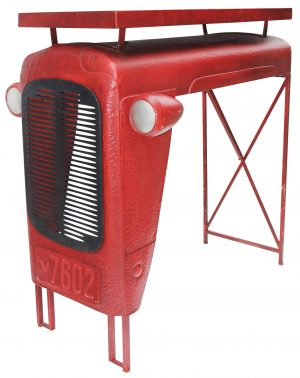 tractor-table-breakfast-bar-red