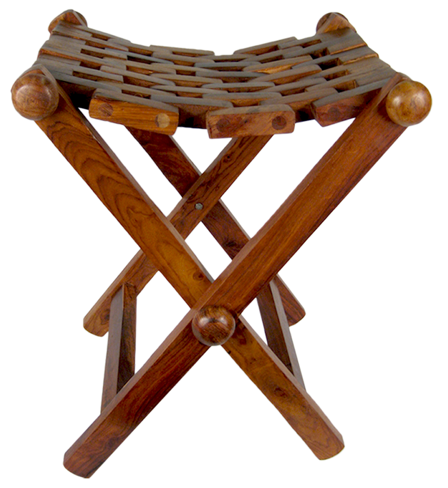 Lattice Wooden Sheesham Folding Stools Ferailles