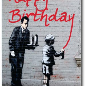Birthday Graffiti - Banksy Greeting Card