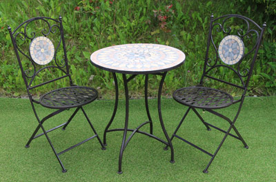 Circle Mosaic - Meta Garden Table Chair SET