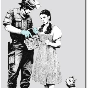 Dorothy Searched - Banksy Greeting Card