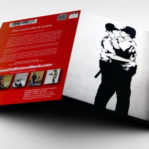 Kissing Coppers 3D full card view - banksy