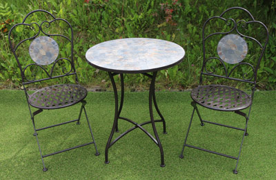 Mosaic Patio Garden Table Chair SET