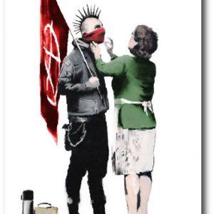 Mum Punk - Banksy Greeting Card