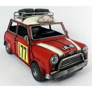 Ornamental 1967 Monte Carlo Rally - Red Mini Cooper - Large