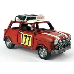 Ornamental 1967 Monte Carlo Rally - Red Mini Cooper - Small