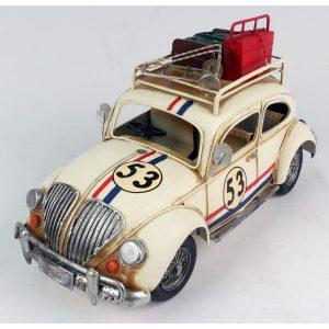 Ornamental VW style Beetle - Herbie 53 - Large