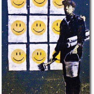 Smileys - Banksy Greeting Card