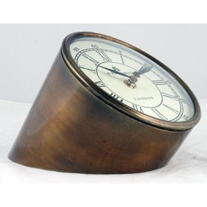 Stylish - Brass Table Clock - New Bond Street