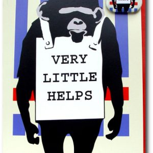 Very Little Helps - Humor Monkey Greeting Card