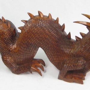 80cm One piece handcarved wooden dragon