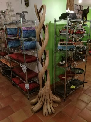 180 cm Natural Stripped Teak Root DOUBLE Tree Stand
