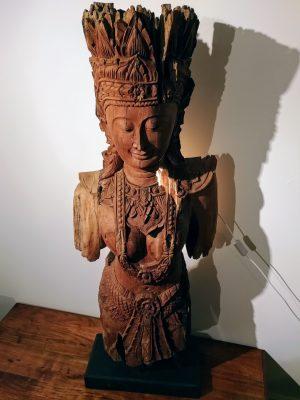 Antique 19th Century Teak Khmer Rouge Statue