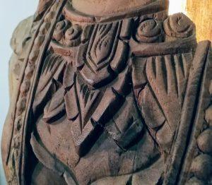 Khmer front carved close up