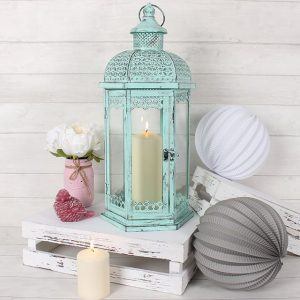 Rustic Mint Lantern - Large