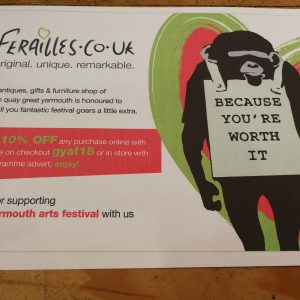Ferailles Great Yarmouth Arts Festival OFFER