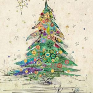 Painted Tree - Bug Art Christmas Card