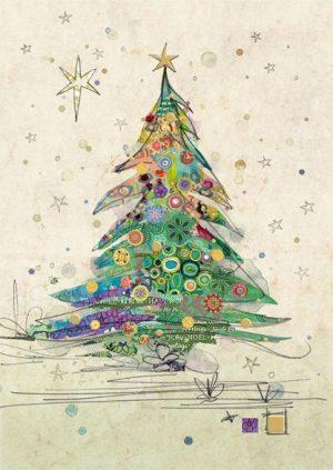 Painted Tree - Bug Art Christmas Card