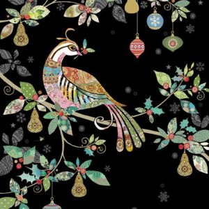 Partridge Tree - Bug Art - Christmas Card