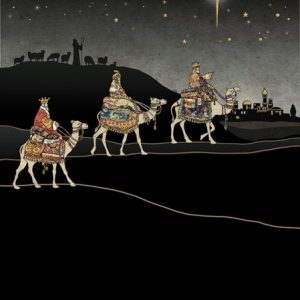 Three Kings Journey - Bug Art Christmas Card