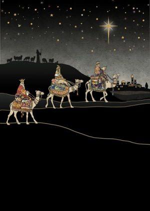 Three Kings Journey - Bug Art Christmas Card