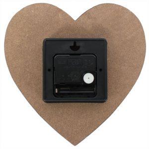 Reverse shot of the small heart clock