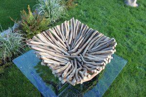 Square Driftwood Bowl. Natural