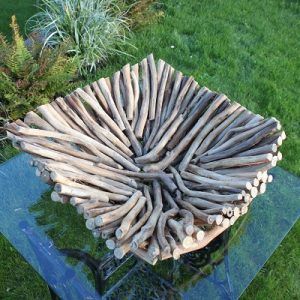 Square Driftwood Bowl. Natural