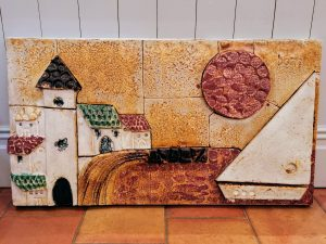 Overview of French Glazed Wall Ceramic Circa 1950's