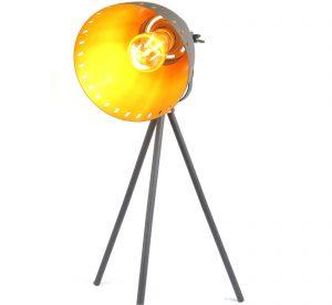 Film Set Black Copper Effect Tripod Table Lamp - Small 50 cm