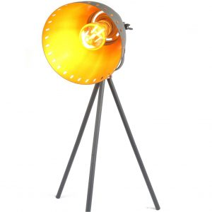 Film Set Black Copper Effect Tripod Table Lamp - Small 50 cm