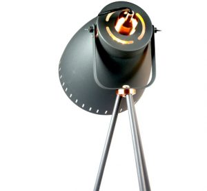 Film Set Tripod Floor Lamp - Large - back of shade shot